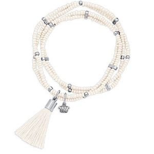 Premier Designs Color Play Beaded Bracelet White